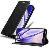 Cadorabo Hülle für LG K50 in Nacht SCHWARZ - Handyhülle mit Magnetverschluss, Standfunktion & Kartenfach - Case Cover Schutzhülle Etui Tasche Book Klapp Style