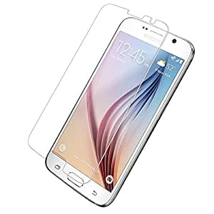 SNOOGG Pack of 4 Samsung Galaxy S6 (Black Sapphire, 32GB)Full Body Tempered Glass Screen Protector [ Full Body Edge to Edge ] [ Anti Scratch ] [ 2.5D Round Edge] [HD View] – White