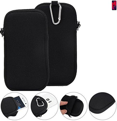 K-S-Trade Neopren Hülle für Huawei P20 Pro Dual-SIM Schutzhülle Neoprenhülle Sleeve Handyhülle Schutz Hülle Handy Gürtel Tasche Case Handytasche schwarz