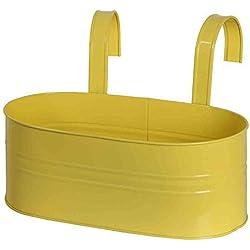 Siena Garden 722634 - Macetero de ventana (oval), color amarillo