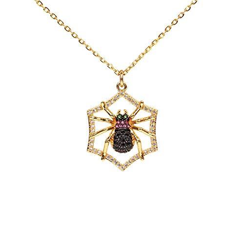 SDFGH Das Or-Halloween-Kostüm, Die Persönlichkeitsform, Die Dunkle Punke-Spinne, Die Anhänger, Die Diamanten-Halskette. - Kostüm Diamant Halskette