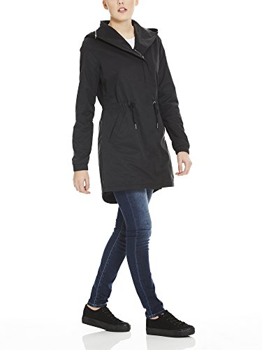 Bench Damen Mantel Feminine Coat with Detachable Hood Schwarz (Black Beauty Bk11179)