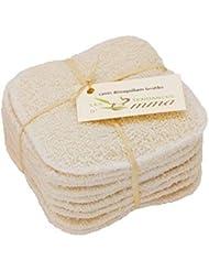 LES TENDANCES D'EMMA 10 Disques en coton bio à démaquiller lavables