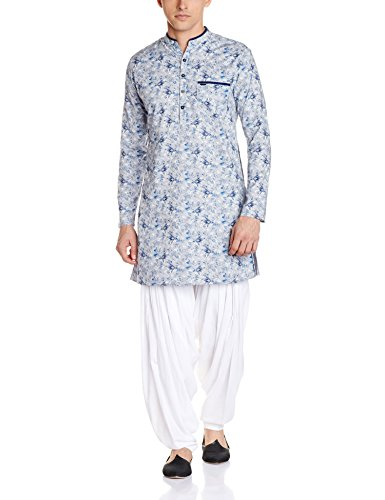 Peter England Men's Knee-long Cotton Kurta
