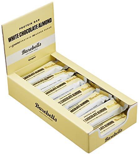 Barebells Proteinriegel 55g x 12 White Chocolate Almond | Proteinreich Kohlenhydratarm | Kaum Zucker | 20 Gramm Protein pro 55-Gramm-Riegel | Köstliche Proteinriegel für Muskelaufbau und -regeneration - Whey Crisp