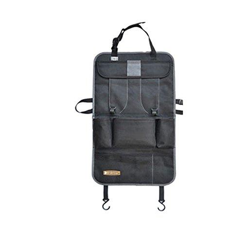 Auto-Rückenlehnenschutz -1 Stück, Feavor Auto Organizer Rückenlehnen-Tasche, Trittschutz mit Rücksitz-Organize, Rücksitzschoner, Kick-Matten-Schutz für den Autositz mit durchsichtigem