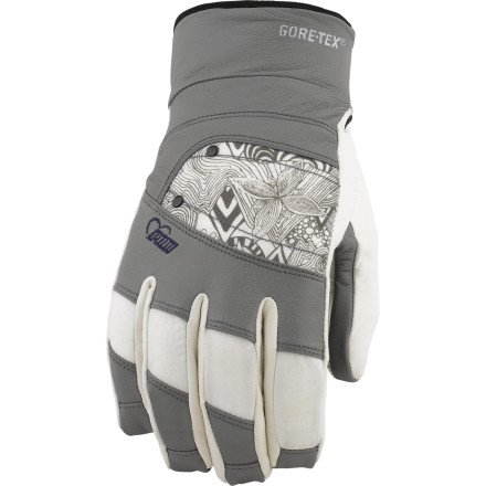 Pow Damen GTX Feva Handschuh, damen, grau
