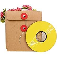 4336fcae4 CD DVD Mangas de papel Kraft Sobre CD Embalaje Bolsa de papel CD Cubierta  de papel