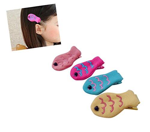 Fisch Schleife Haar Clip Pure Color Haarspange Haar-Accessoires für Baby Mädchen Kinder Teens ()