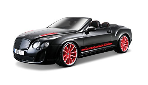 Bburago 18-11035 - Bentley Continental Supersports ISR Modellino, Convertibile, Scala 1:18, Colori Assortiti: Bianco/Nero