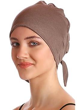 Cómodo gorro con cintas para atar para quimioterapia o pérdida del cabello