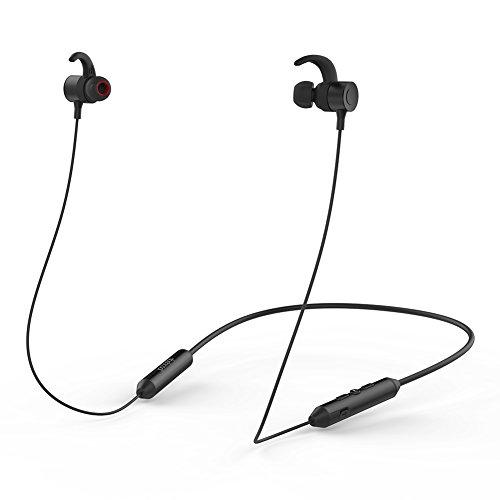 dodocool Ecouteurs Intra-auriculaires Oreillettes Bluetooth Magnétique Stéréo sans Fil AptX avec HD Mic CVC 6.0 et 10 heures Endurance Noir