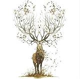 Sshssh Kreative Elch Wandaufkleber Wohnzimmer Schlafzimmer Tapete Poster Kunst Große Baum Elks Horn Gras Wand Grafik Dekoration Aufkleber