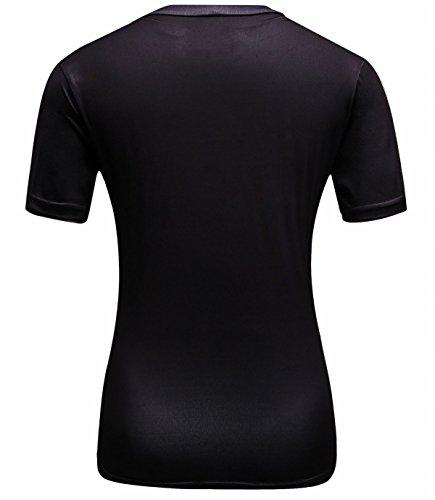 Cody Lundin Femme Cool T-shirt Super Héros Sport Chemise Sportive Confortable Noir