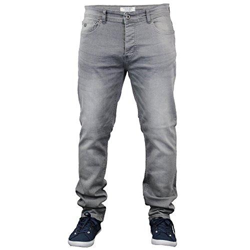Herren Enganliegende Denim Jeans By Threadbare Neu Grau Gewaschen - BMU028PKA