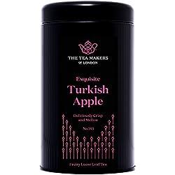 The Tea Makers of London he Türkischer Apfeltee Schwarzer Tee von prämiertem Teekontor Geschenkidee, 1er Pack (1 x 125 g)