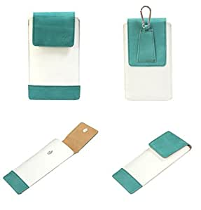 J Cover A14 F Nillofer Series Leather Pouch Holster Case For Lemon P102 White Light Blue