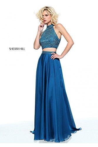sherri-hill-peacock-blue-50809-2-piece-crop-top-chiffon-skirt-dress-uk-4-us-0