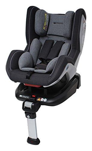 Osann 101-108-230 Reboard Kindersitz Fox Isofix - Gruppe 0+/1, 0-18 kg, 0 bis circa 4 Jahre, Grau Melange