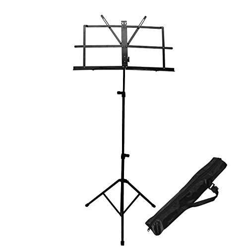 Mustang Adjustable Orchestra Conductor Music Stand, with Carrying Bag, Light Weight for Travel
