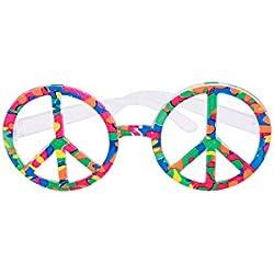 Gafas multicolores hippie - Única
