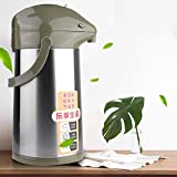 Vacuum Water Pot, 3L Pressure Stainless Steel Household Thermo Insulated Water Pot Jug(Fruit Green)