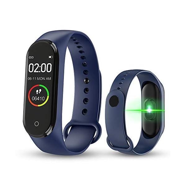 BATHRINS Pulsera Inteligente, [Actualización] M4 Fitness Tracker Rastreador de Actividad Bluetooth Impermeable Monitor… 1