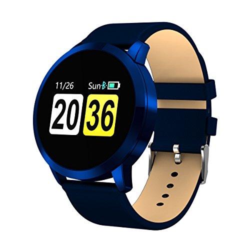 OUKITEL Smartwatch Bluetooth Wasserdicht, W1 Intelligente Armbanduhr Fitness Tracker Armbänder Touchscreen Lange Standby-Zeit Kompatibel mit iOS und Android Handy