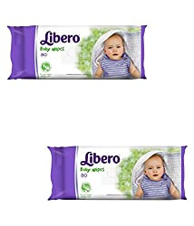 Libero Baby Wipes 80 Pieces, Baby Wipes, Pack of 2