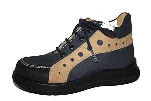 Jela 51.020.36 Kinder Schuhe Stiefeletten Mädchen Jungen Blau/Beige