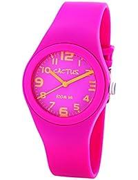 Cactus CAC-76-M55 - Reloj de pulsera niños, Plástico, color Blanco