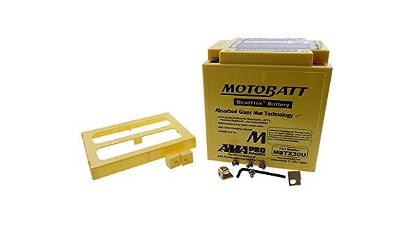 inkl. 7.50 Euro Batteriepfand Batterie MOTOBATT f/ür Harley Davidson 1450 Road King Classic FLHRC 2001-2006