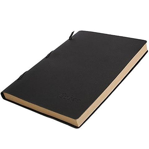 Cobee Bloc-Note Classique Journal Carnet Cahier Carnet Commercial en PU Cuir (papier kraft)