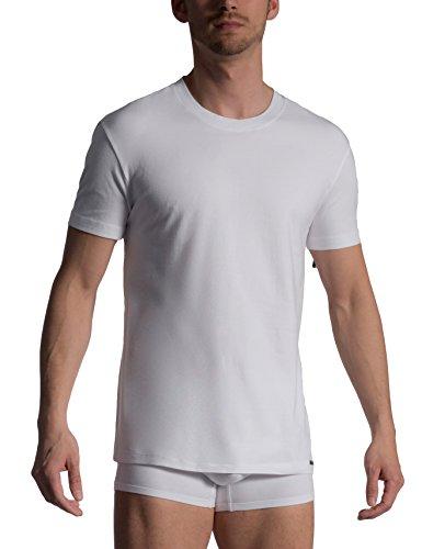 Olaf Benz Herren Unterhemd RED1010 T-Shirt, 2er Pack, Einfarbig Weiß (White 1000)