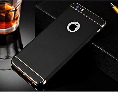 Vandot Schutzhülle für Apple iPhone 55S/iPhone sich Exklusives Design Abnehmbare Hartschale Air Kunststoff dauert von PC zurück Bumper Case Cover Ultra Slim Thin 0,9mm matte Building Praktiken High- ChaFen-Noir