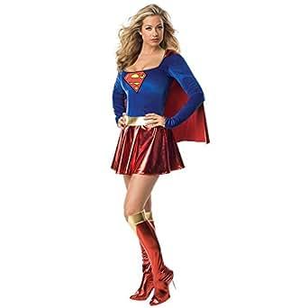 Ladies Sexy Supergirl Superwoman Costume Boot Covers & Pants (medium)