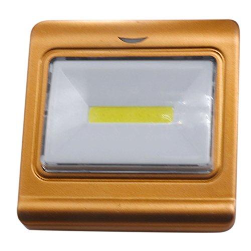 jdon-led, 4W magnetische Mini-COB LED-Wandleuchte Nachtlicht-Lampen-Batterie betrieben mit Schalter-magischen Tapet (goldenen) 1PCS (4w Nachtlicht)