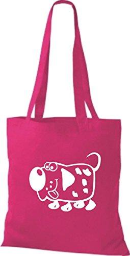 Shirtstown Stoffbeutel Tiere Hund Dog pink