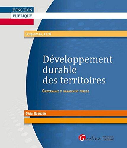 Développement durable des territoires : gouvernance et management publics