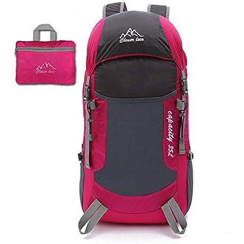Pack pelle borsa a tracolla portatile ultra-leggero all'aperto pieghevole alpinismo zaino uomini e donne sport borsa da viaggio , pink - Camelbak Bambini Zaino