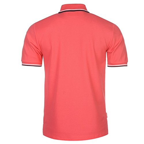 Slazenger Herren Polo Shirt Kurzarm Streifen Details Leuchtend Pink
