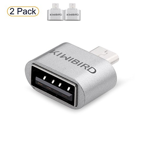 KiWiBiRD Micro USB (männlich) zu USB 2.0 (weiblich) High Speed OTG Adapter Kompatibel mit Android Smartphones/Tablets mit OTG Funktion ***2er Pack*** - Adapter Android Tablet