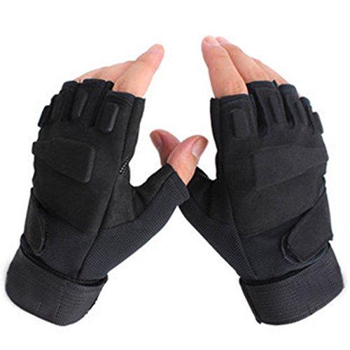 Yxto guanti tattici half finger anti-scivolamento resistente all'uso per l'equitazione, l'alpinismo, il bodybuilding e gli sport all'aria aperta (1 paio,m)