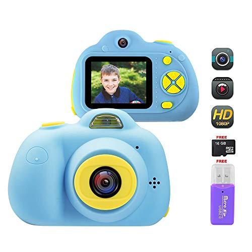 Cámara Digital para Niños, 18MP 1080P HD Video Cámaras para Niños con Tarjeta de Memoria de 16GB, Cámara de Fotos Digital (Azul)