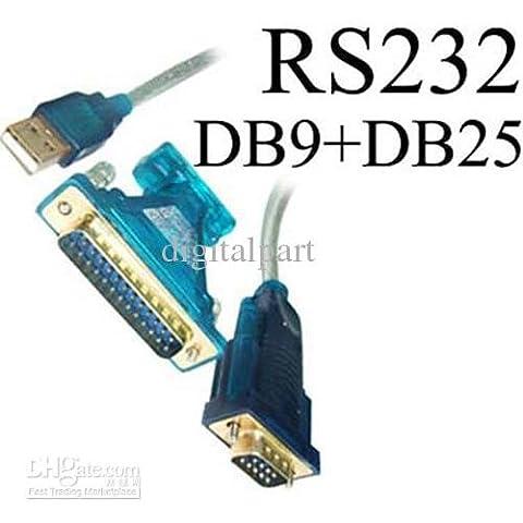 CABLING® USB to 9 Pin DB9 ou DB25 Serial RS-232