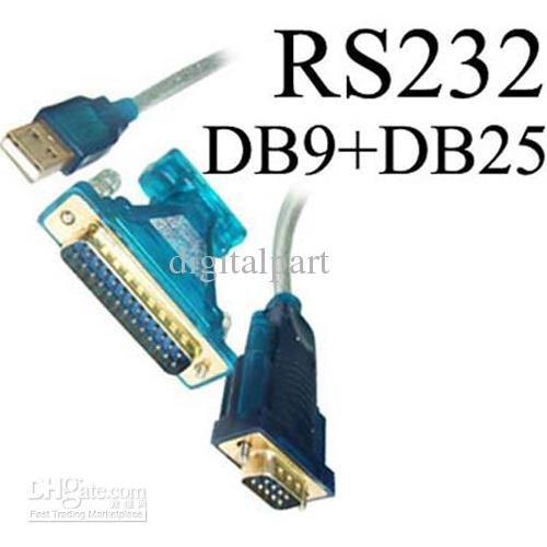 CABLING® USB to 9 Pin DB9 ou DB25 Serial RS-232 Câble adaptateur Adapter Adaptor RS232 Convertisseur converter convertor USB vers Serie pour PDA SAT NAV GPS ou système de navigation etc PC et MAC Supports WIN 98SE, 2000, XP, Vista, 7, 8, MAC os V8.6~9.2 plus