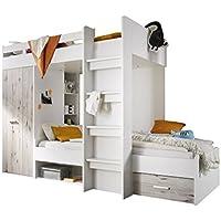 Preisvergleich für Stella Trading Maxi Bett, Holz, WEIß/SANDEICHE, 90 x 200 cm