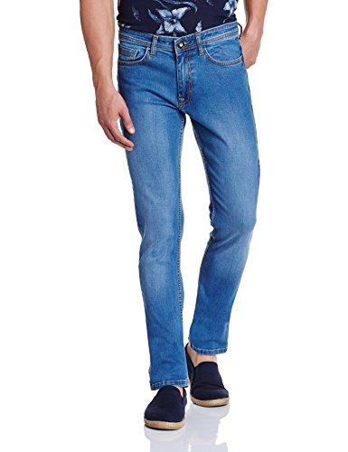 V Dot by Van Heusen Mens Slim Jeans (8907355711884_VDDN1D37581_40_Indigo)