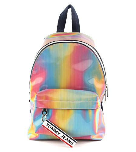 Tommy Hilfiger TJW Logo Tape Mini Backpack Rainbow Holo