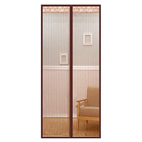 Giow Puerta con mosquitero magnético con potentes imanes, no más Mosquitos o Insectos, marrón, 70 x 200 cm (28 x 79 Pulgadas)